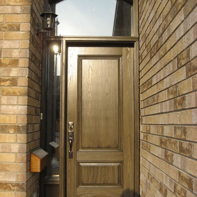 Wood Grain Front Door With Side Lite \u0026 Transom Installed by Four Seasons Windows \u0026 Doors & Four Seasons Windows \u0026 Doors » Doors Gallery Pezcame.Com